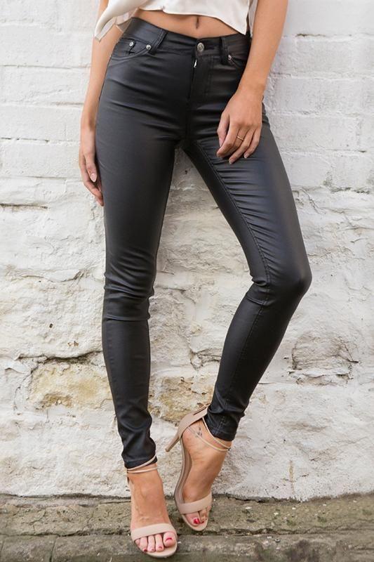 6be1e4dbf3afc 8DESS Leather Women Pants Capris Leggings High Waist Pants Trousers Pencil  Pants