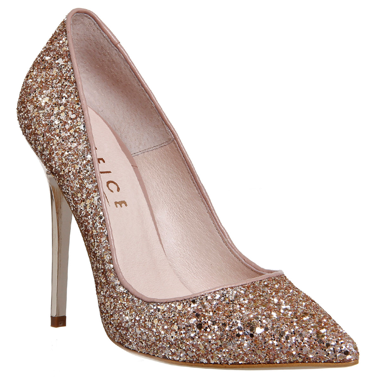 Gold court shoes, Rose gold heels