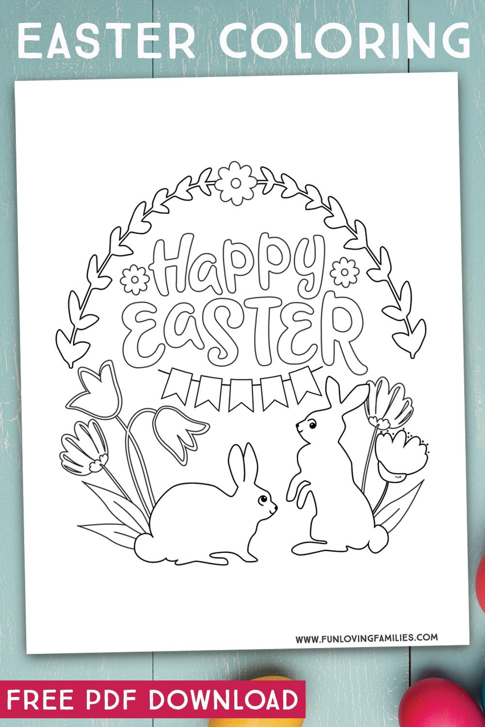 9 Easter Coloring Pages for Kids (Free Printables