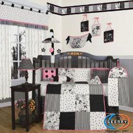Penguin Nursery Theme Black And White Baby Bedding Crib