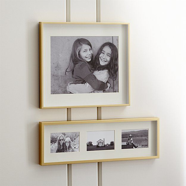 Brushed Brass 11x14 Wall Frame Reviews Crate And Barrel In 2020 Frames On Wall Brass Picture Frames Wall Frames