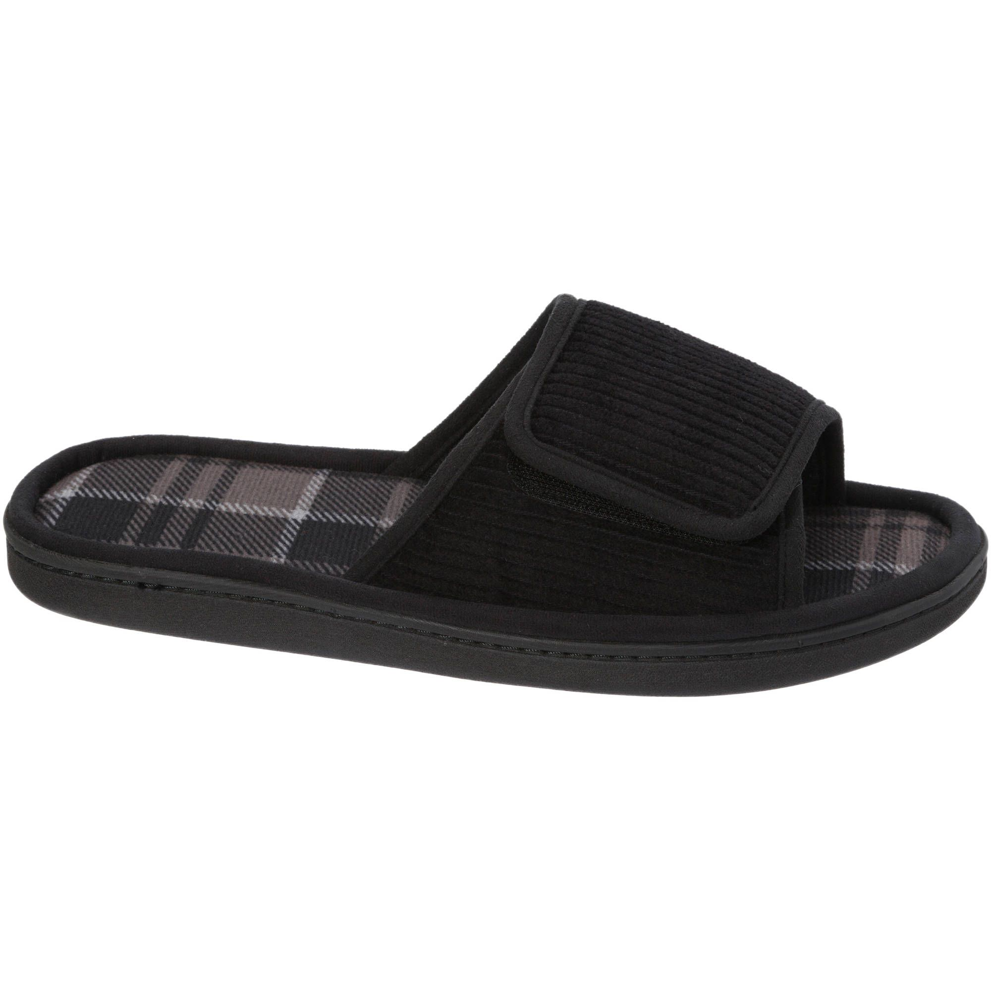 dearfoams women velour clog slipper shoes walmart men slide | Home ...