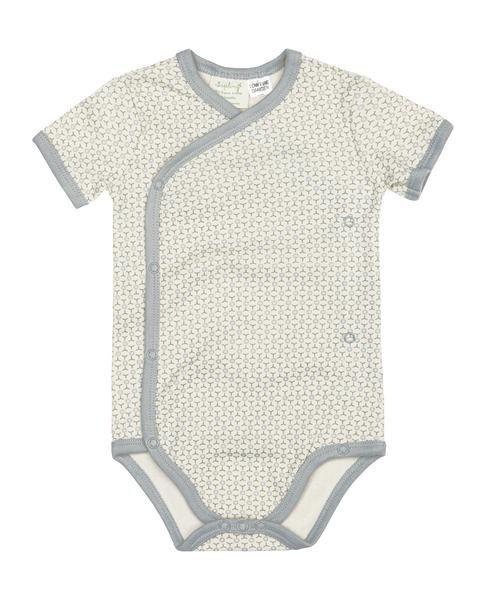 Sapling kimono bodysuit - Essentials - Dove Grey - Baby Gift Works  - 1
