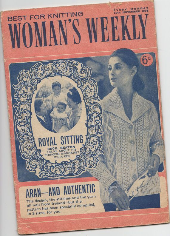 Womans Weekly Knitting Patterns Plus Extras 1960s Knitting And