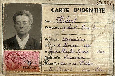 Carte D Identite Francaise 1890 Carte D Identite Photomaton Carte