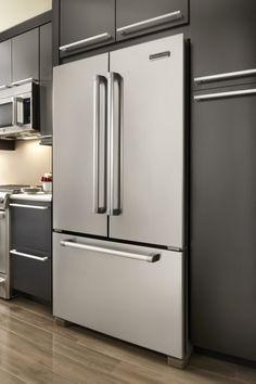 KitchenAid Counter Depth Refrigerator In Kitchen Modern House
