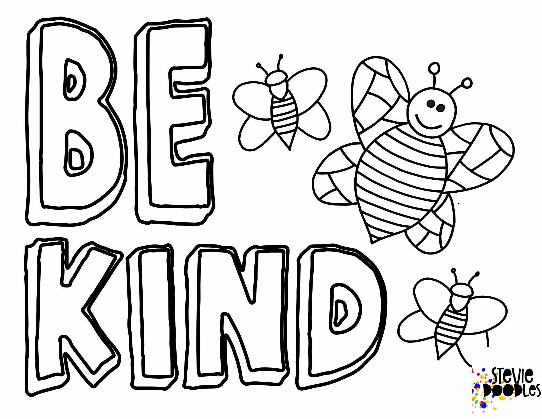 6 Free Be Kind Printable Coloring Pages Stevie Doodles Bee Coloring Pages Free Printable Coloring Pages Quote Coloring Pages