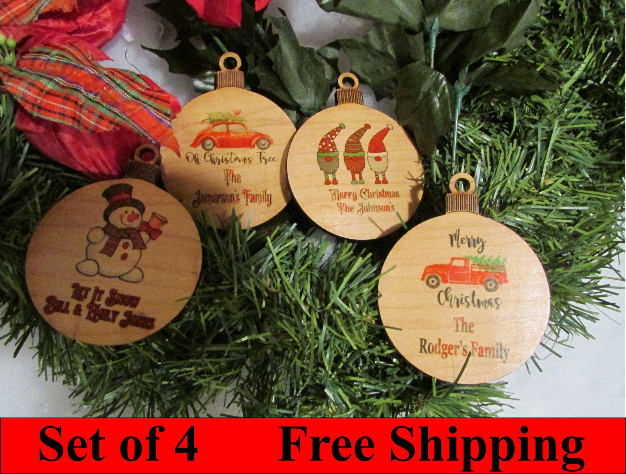 Photo Christmas Ornaments Custom Wood Christmas Ornament Personalize Photo Christmas Ornaments Personalized Photo Ornaments Personalized Christmas Ornaments