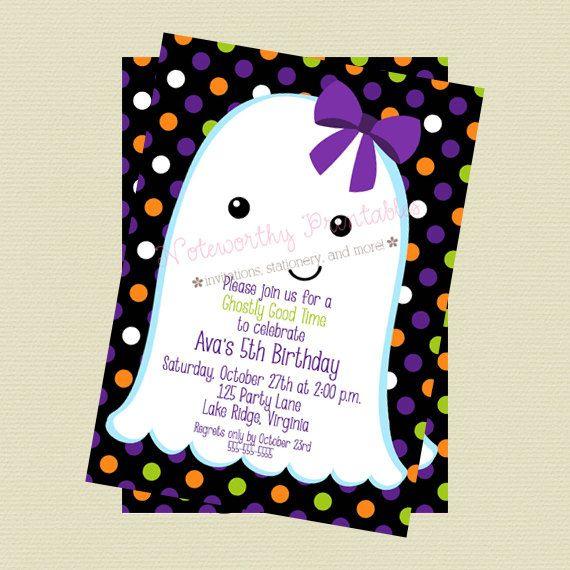 ghost halloween invitation halloween party invitation halloween