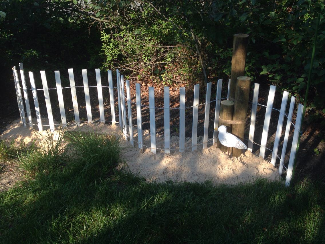 Coastal garden very inexpensive. Garden fence $18.00 @Lowes, Sand ...