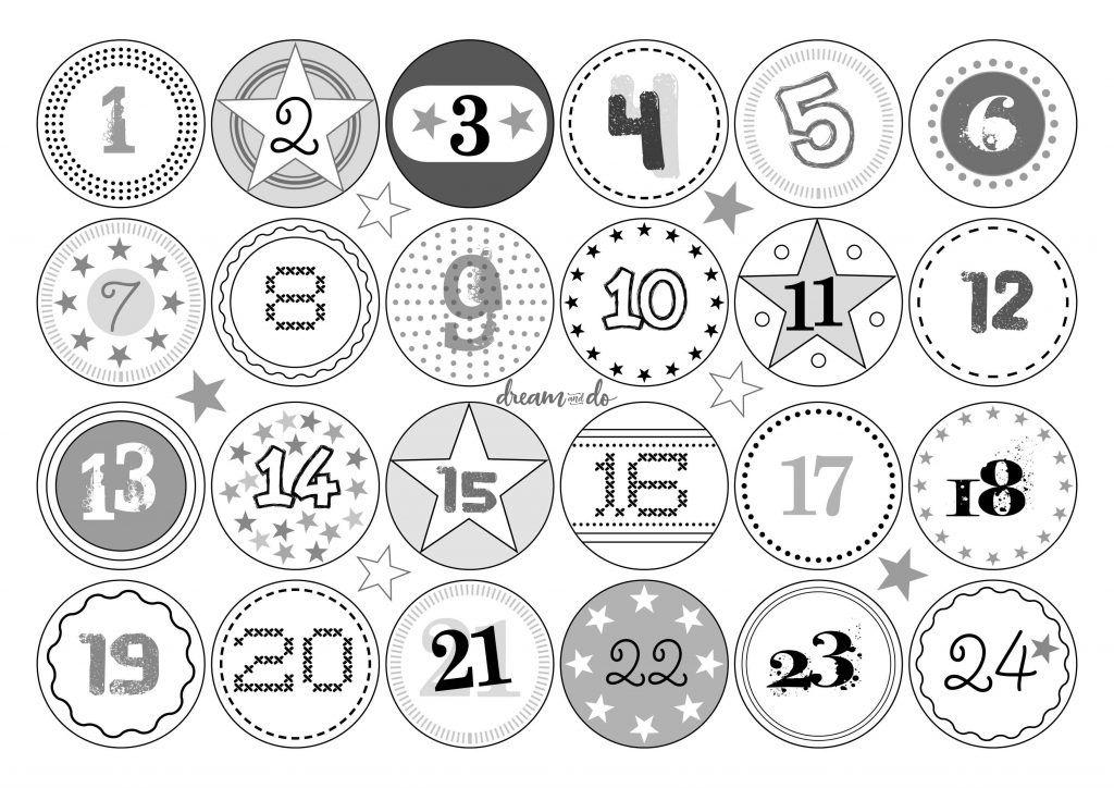 24 Zahlen Fur Selbermacher Ausdrucken Kreativ Nummernschild