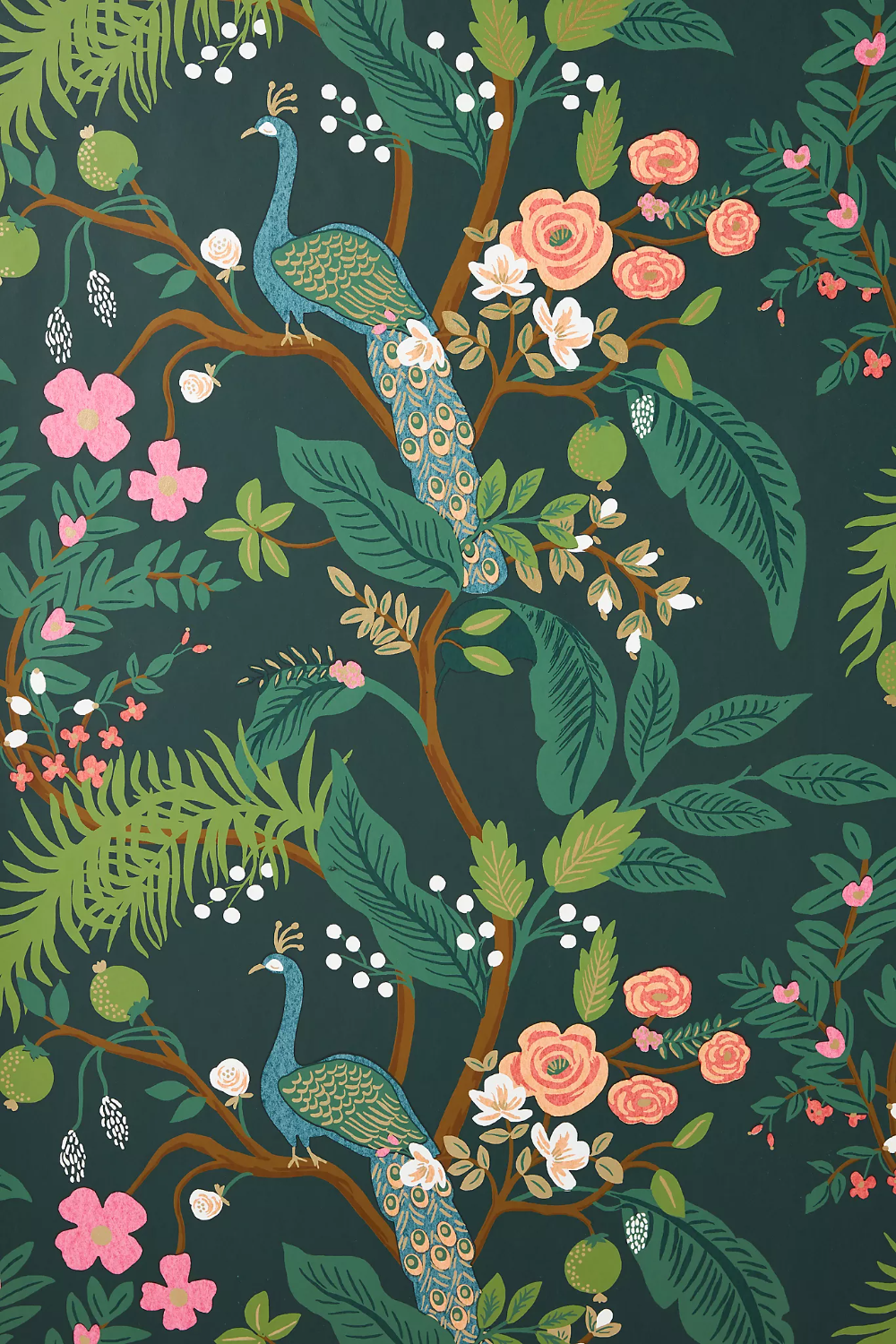 Rifle Paper Co. Peacock Wallpaper