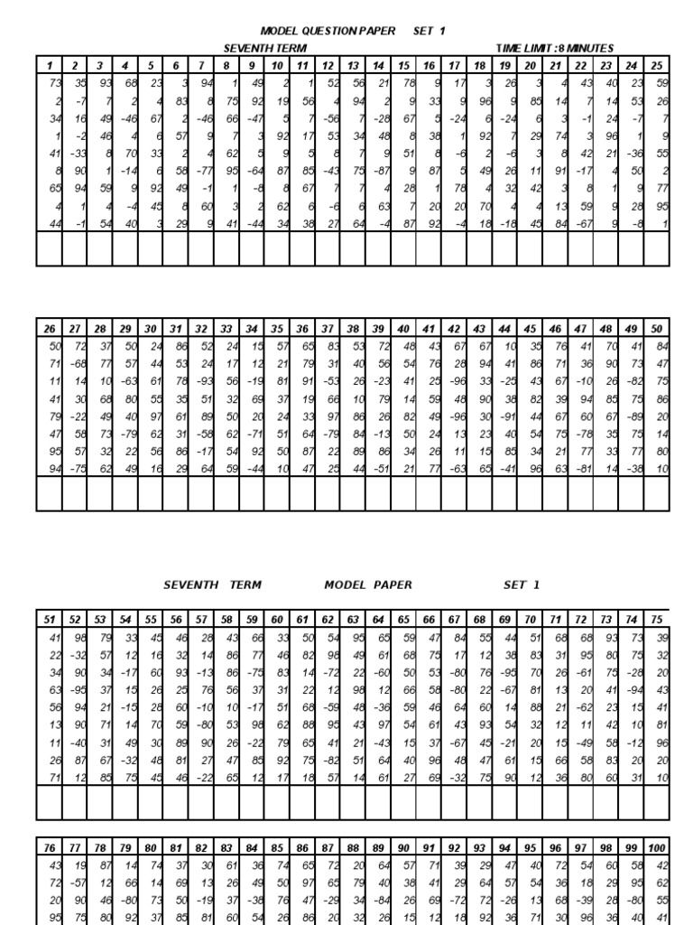 National Comp Model Paper Math Worksheets Mathematics Worksheets Abacus Math [ 1024 x 768 Pixel ]