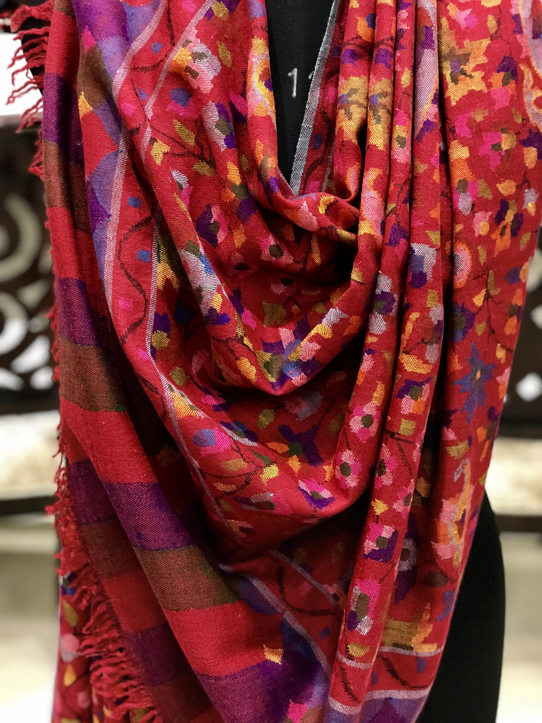 79a3feaf5 Pure Pashmina All Over Kani Shawl, Floral Design Red Kani Shawl/Wrap, Hand  Woven Art, Women Wrap, Kashmiri Kani Shawl, Girl Wrap, Kani Weave by ...