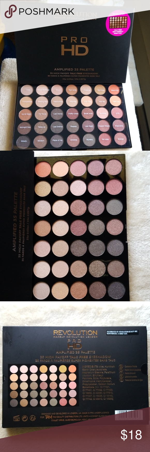 Revolution eyeshadow palette Brand new, Revolution Makeup
