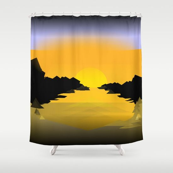 An Evening Down By The Sea With A Sunset Curtains Shower