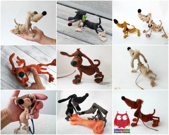 134 Crochet Pattern Dog Dachshund Genreh  Amigurumi  PDF file