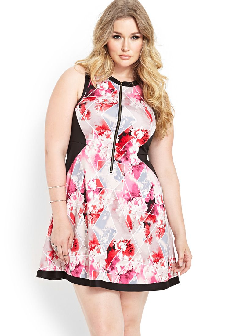 Floral Scuba Knit Dress   FOREVER21 PLUS All dressed up #Spring ...