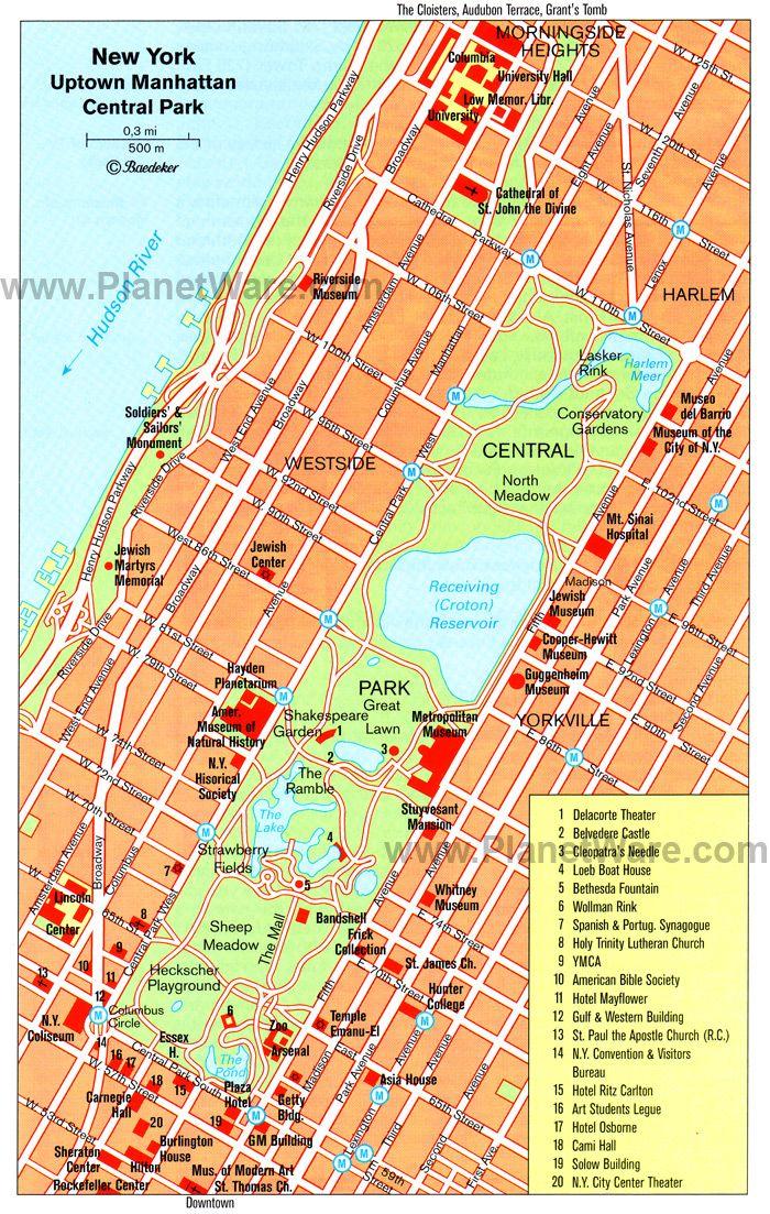 Uptown Manhattan And Central Park
