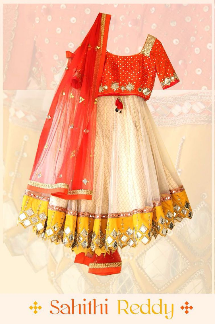 Mirrors kids pinterest half saree saree and ethnic