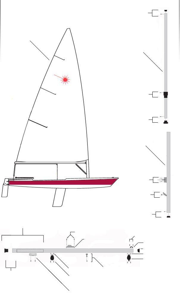 Laser Sailboat Sailing Laser Sailboat Sailboat