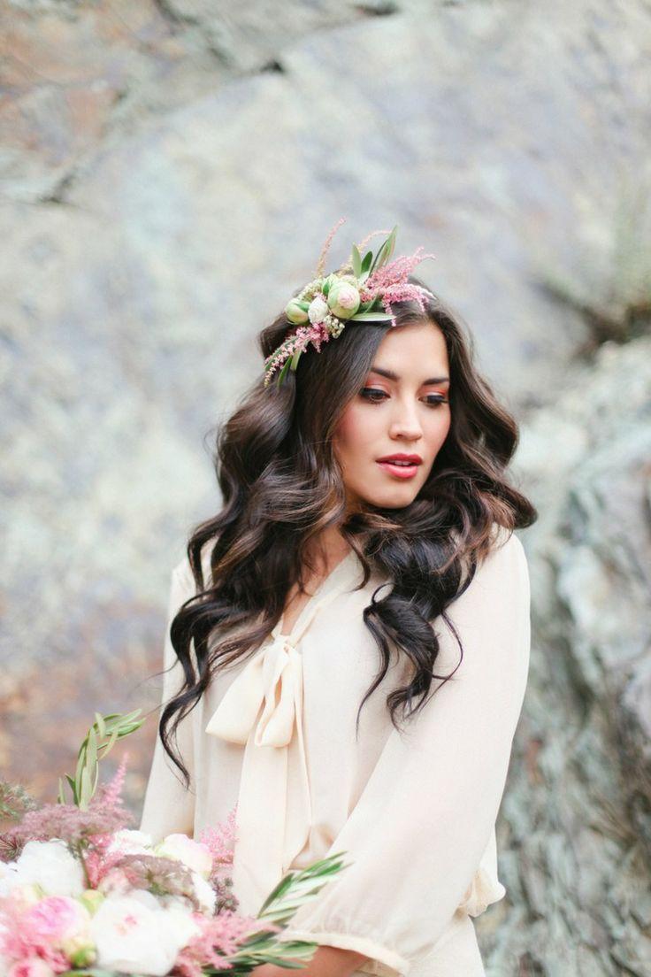 Santorini Wedding | Bridal hairstyle, Wedding and Wedding
