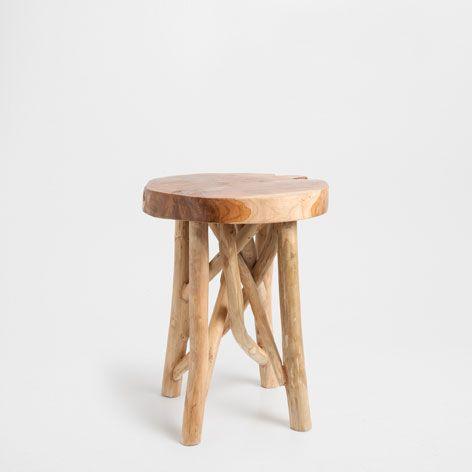 TEAK STOOL   Occasional Furniture | Zara Home United States