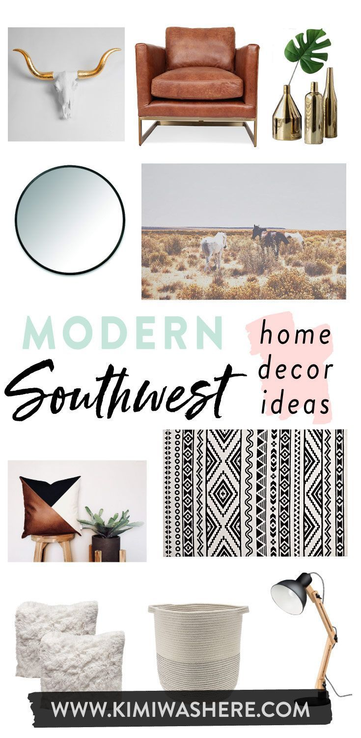 Modern Southwest Home Decor (wie man den NEUEN Südwest-Weg gestaltet) #traditionellesdekor