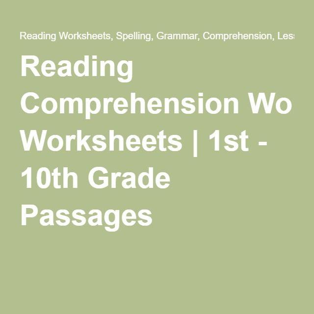 Reading Comprehension Worksheets | 1st - 10th Grade ...