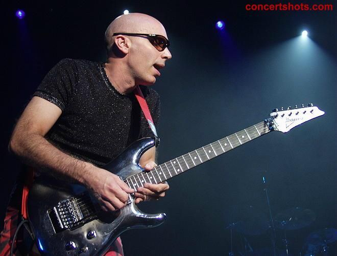 Joe Satriani one of the most awesome guitar players around.  My husband is a fan and turned me on to this guy's music.