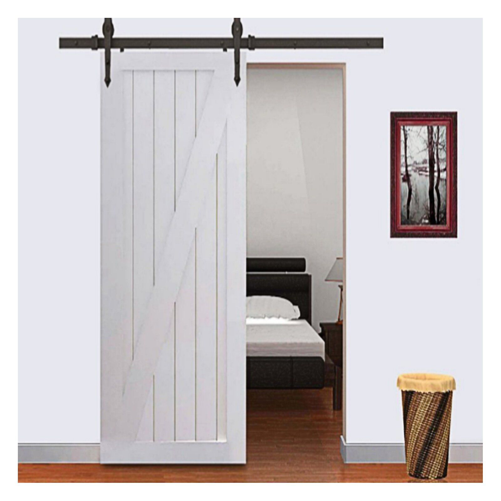 Arrow Sliding Standard Single Track Barn Door Hardware Kit Wood Doors Interior Doors Interior Sliding Door Hardware