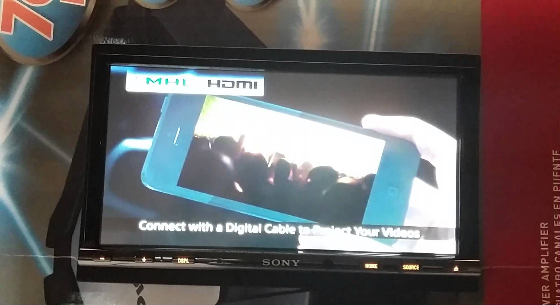 Demo Video TV Mobil Double Din Sony XAV 712BT