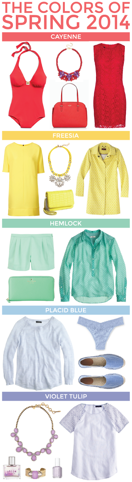 the colors of spring 2014.
