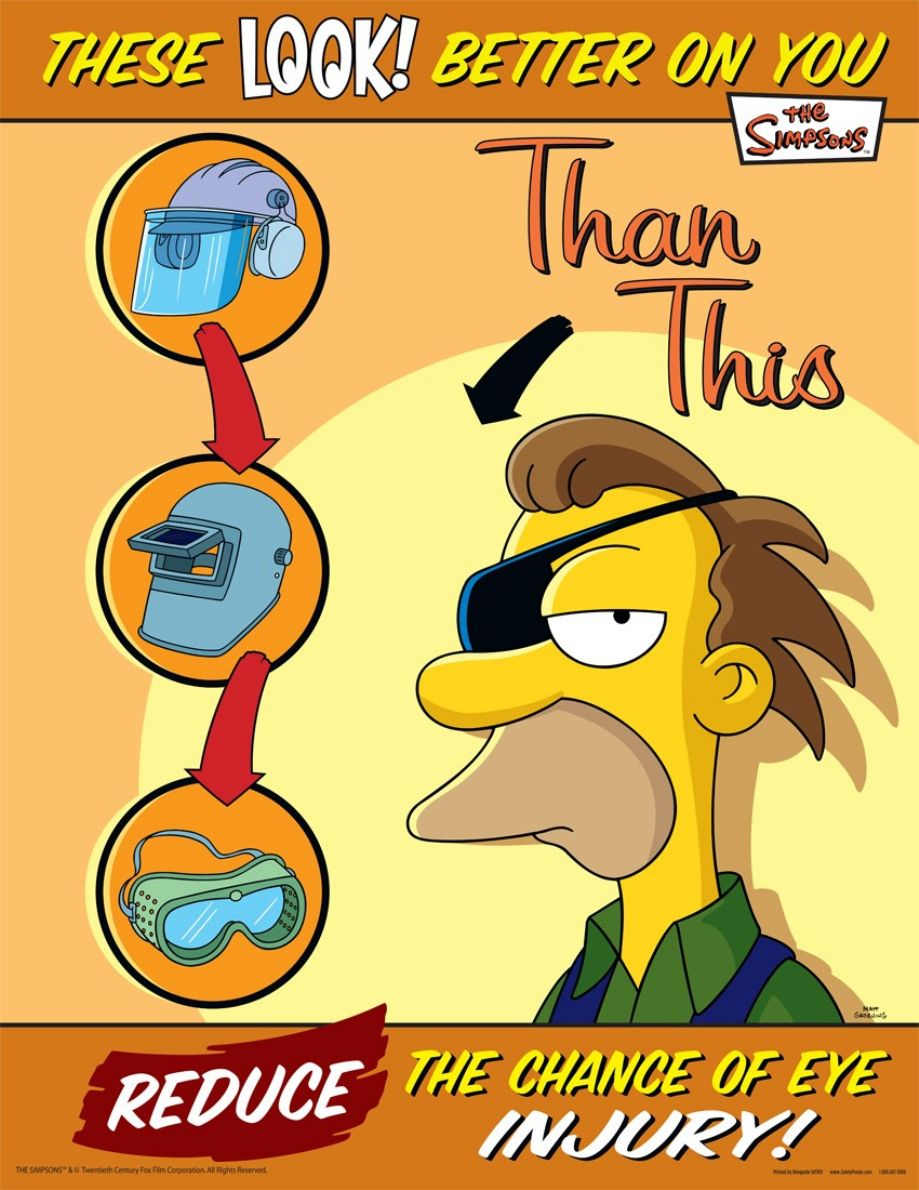 22 simpsons safety posters safety posters funny pics