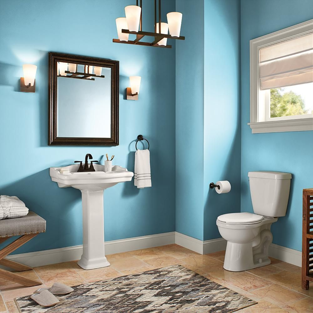 Behr Ultra 8 Oz P490 3 Big Chill Satin Enamel Interior Exterior Paint And Primer In One Sampl Bathroom Paint Colors Small Bathroom Paint Bedroom Paint Colors