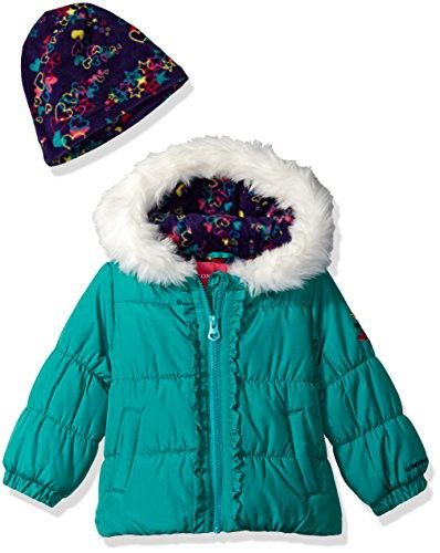 6d84dc83f London Fog Baby Girls Winter Coat with Hat and Scarf   Parenting and ...