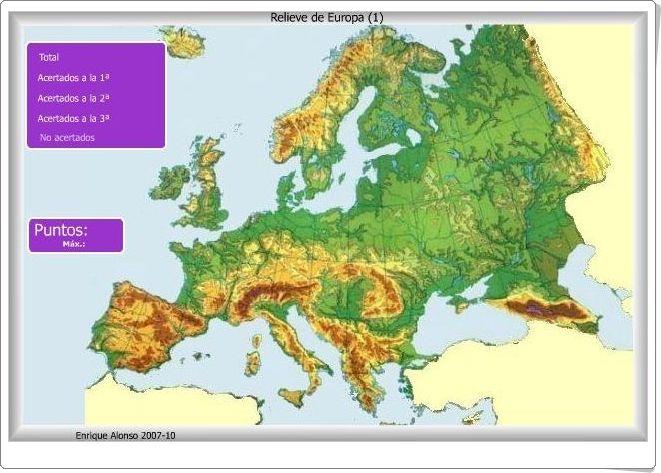 Los Mapas Interactivos De Relieve De Europa De Enrique Alonso Sirven Para Nombrar Localizar Y Situar De Mapa Fisico De Europa Mapa Interactivo Mapa De Europa