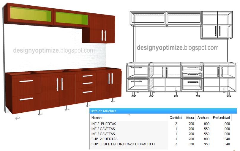Diseño De Muebles Madera: Fabricando Cocina Lineal De 2.70 ...