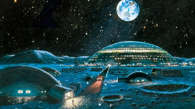 What Happened To Hilton S Hotel On The Moon The Idea Of A Hilton Hotel On The Moon Has Resurfaced Every Few Year 70s Sci Fi Art Futuristic City Sci Fi Art