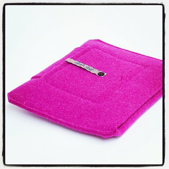 iPad Sleeve Pink  wool felt iPad 2 iPad 3 by Bookase on Etsy, $70.00