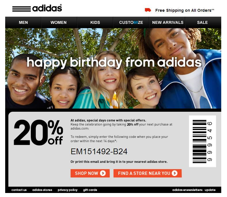 adidas factory store coupon