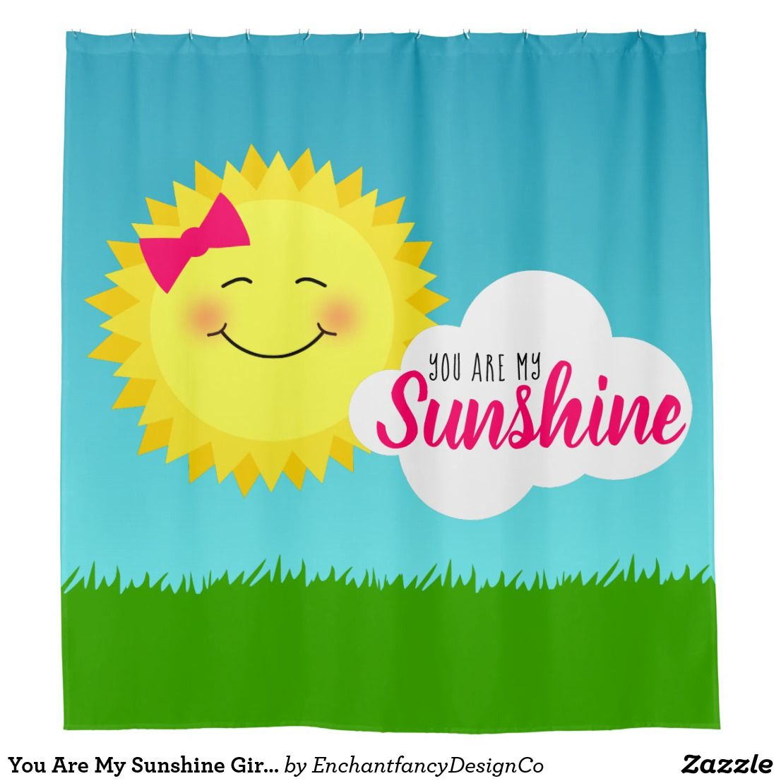 You Are My Sunshine Girly Sun Shower Curtain Zazzle Com You