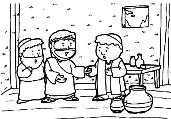 Doubting Thomas Coloring Pages For Kids