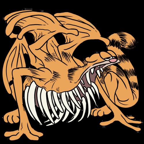 Malaru On Twitter Creepy Images Creepy Garfield