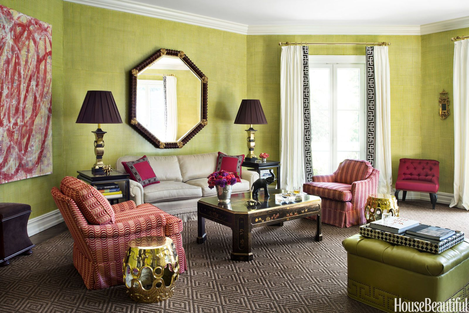 1930S Interior Design Living Room A Formal 1930S Home That Definitely Spins The Color Wheel  Living