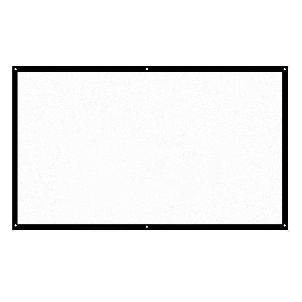 H100 100'' Portable Projector Screen HD 16:9 White Dacron