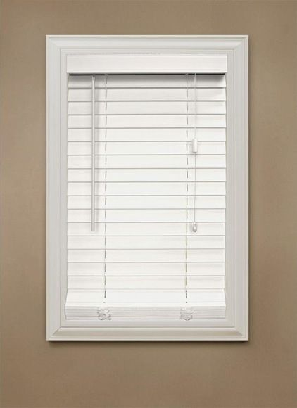 Contemporary Window Blinds By Home Depot Faux Wood Blinds
