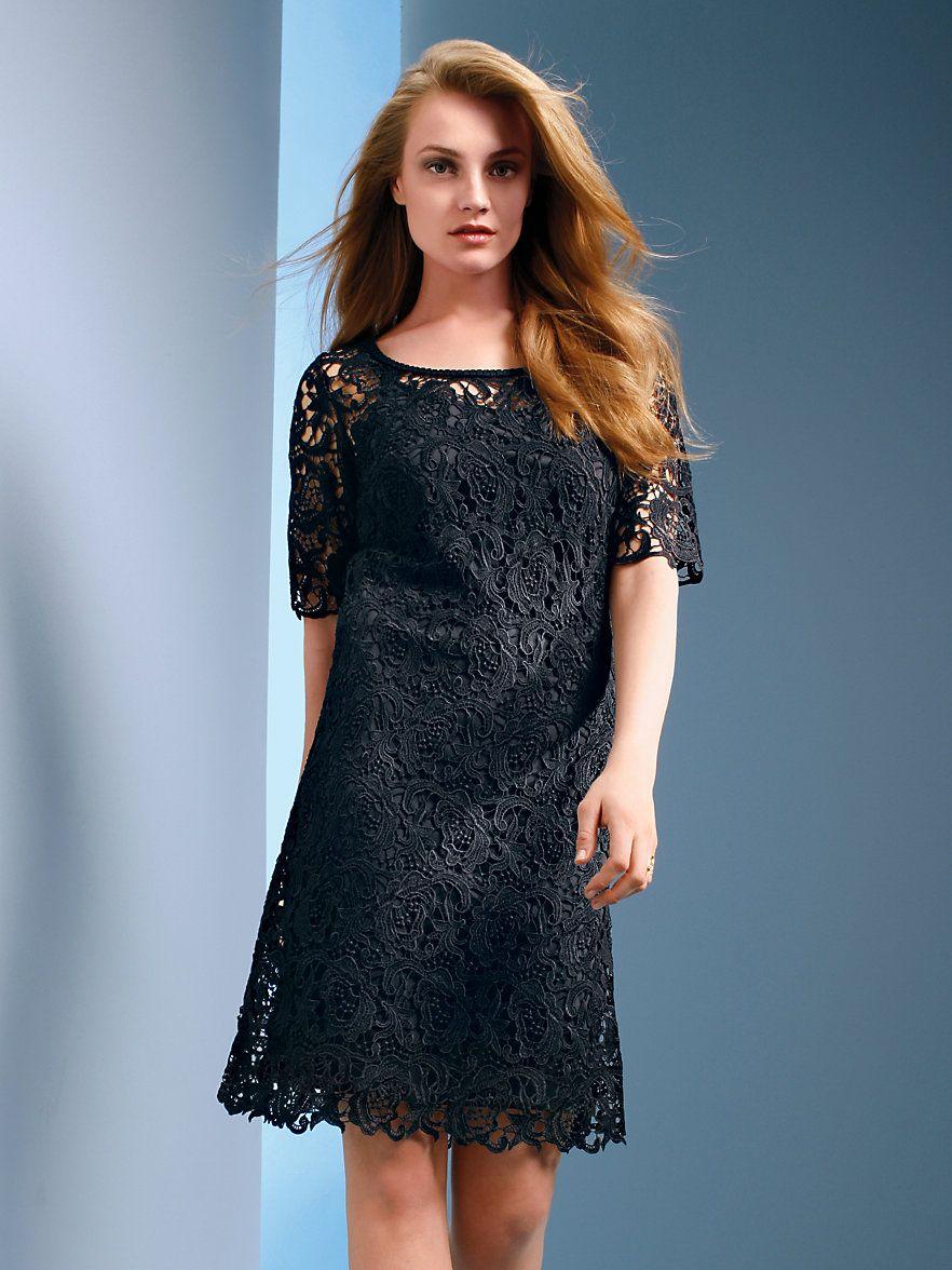 Legeres Spitzen-Kleid mit etwas längerem 16/16-Arm (mit Bildern