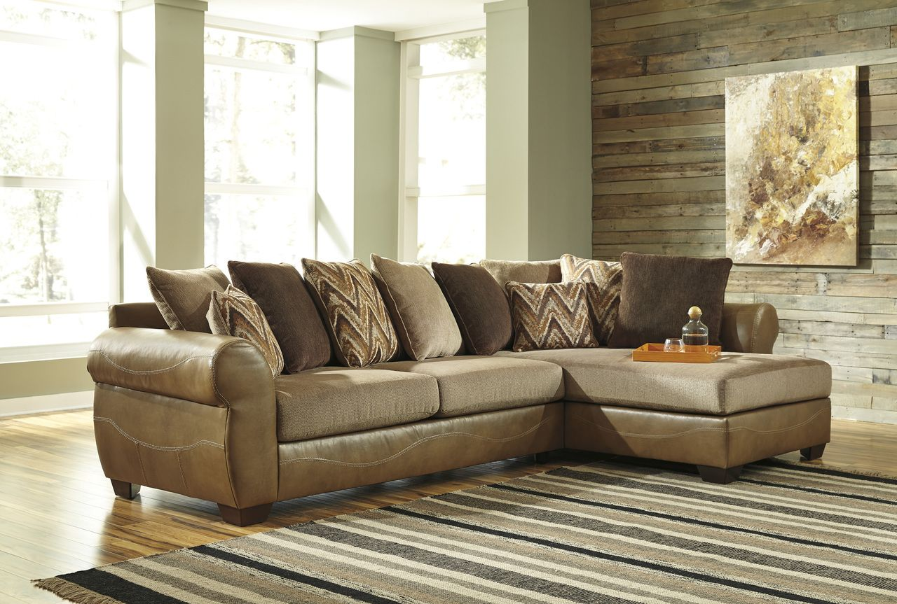 Declain Sectional Sand Rose Brothers Fabric Sectional Sofas