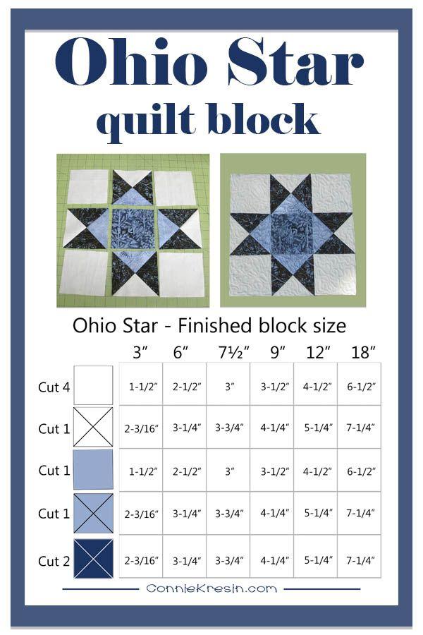 River Espresso Ohio Star Block Tutorial #starquiltblocks